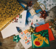 holiday cards and gift wrap