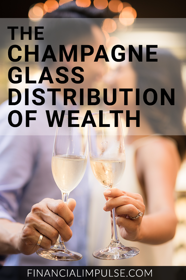The Champagne Glass Distribution of Wealth