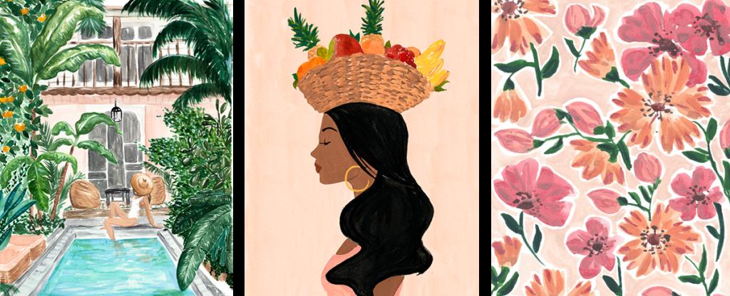 a selection of Sabina Fenn's artwork