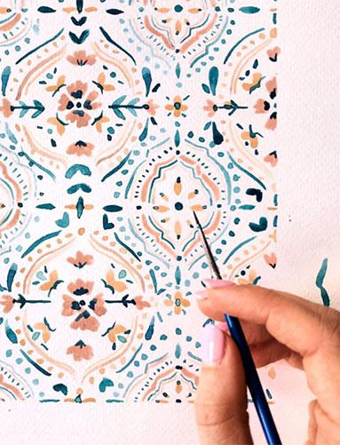 "Sabina Fenn painting ""Moroccan Tiles"""