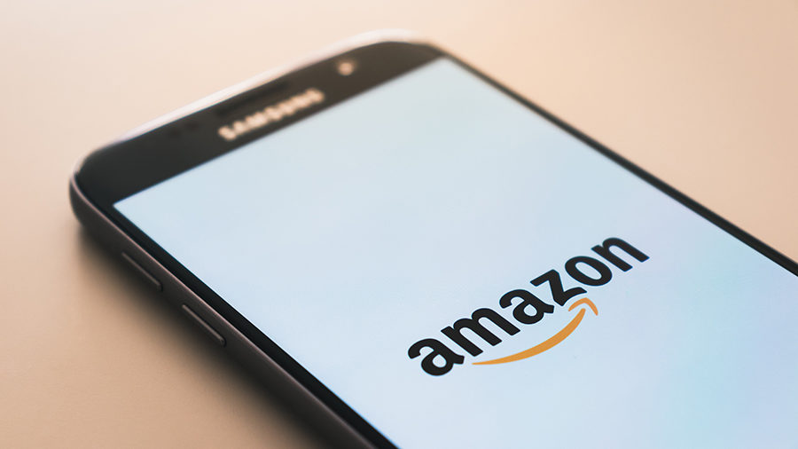 phone with Amazon logo