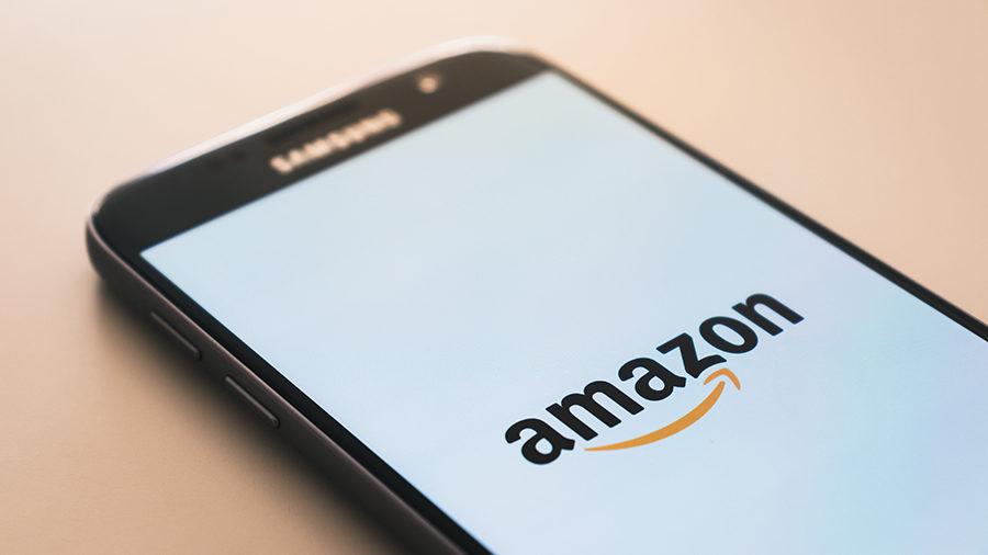 phone with Amazon logo